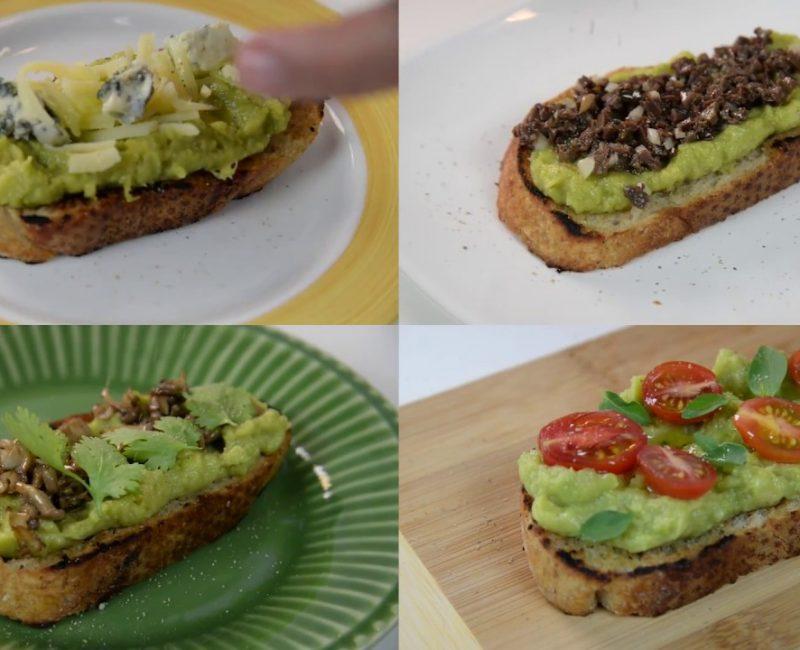 4 torradas com Abacate