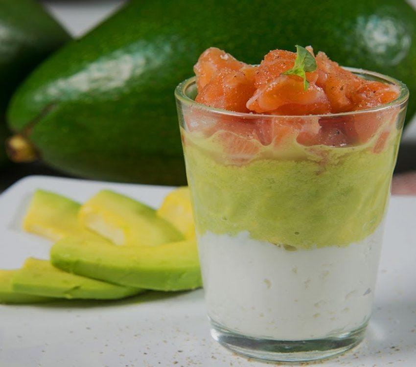 Verrine de Abacate e salmão
