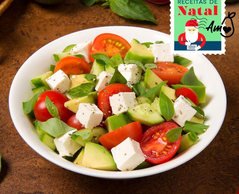 Especial Receitas de Natal: Salada Caprese com Abacate