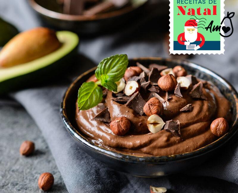 Especial Receitas de Natal: Mousse de chocolate com Abacate